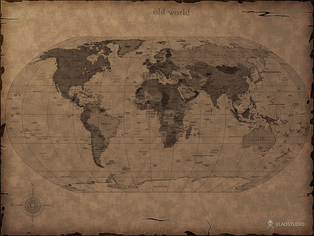 Mais Um Mapa Do Http Www Vladstudio Com Pt Home World Map Wallpaper Cool World Map World Map