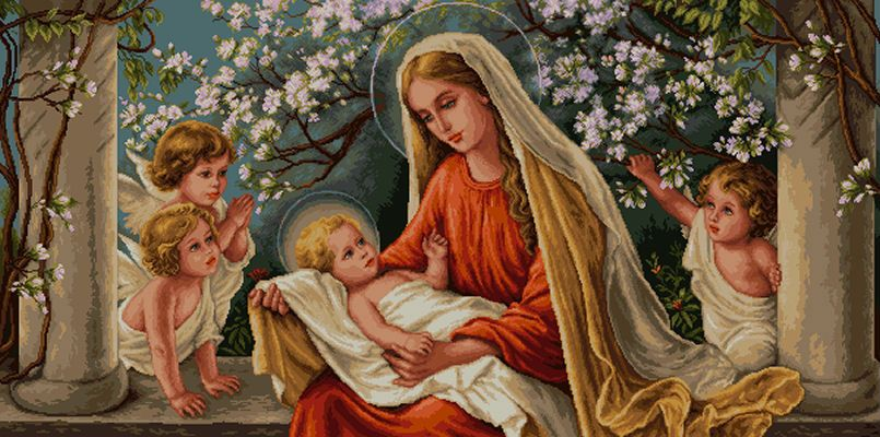 Maria e o menino Jesus