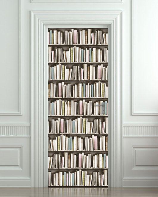 porte vignette livre biblioth que pastel attacheuse par wallnit porte parement mural. Black Bedroom Furniture Sets. Home Design Ideas