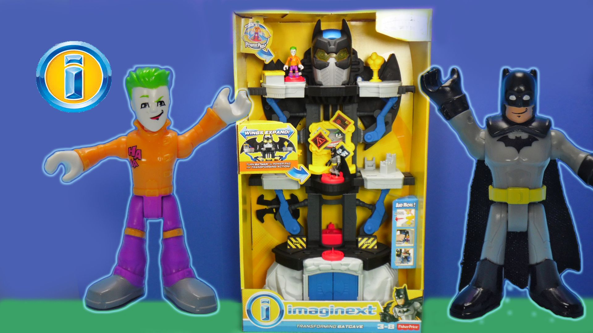 Mattel Superheroes Imaginext DC Transforming Batcave Batman Justice League