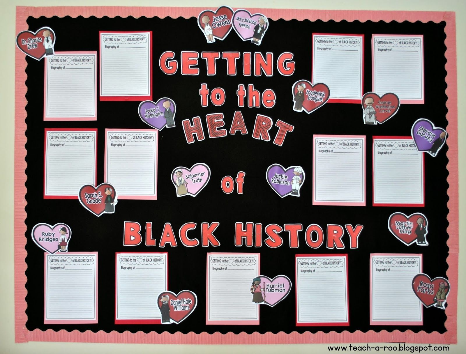 getting to the heart of black history month freebie! | top teachers