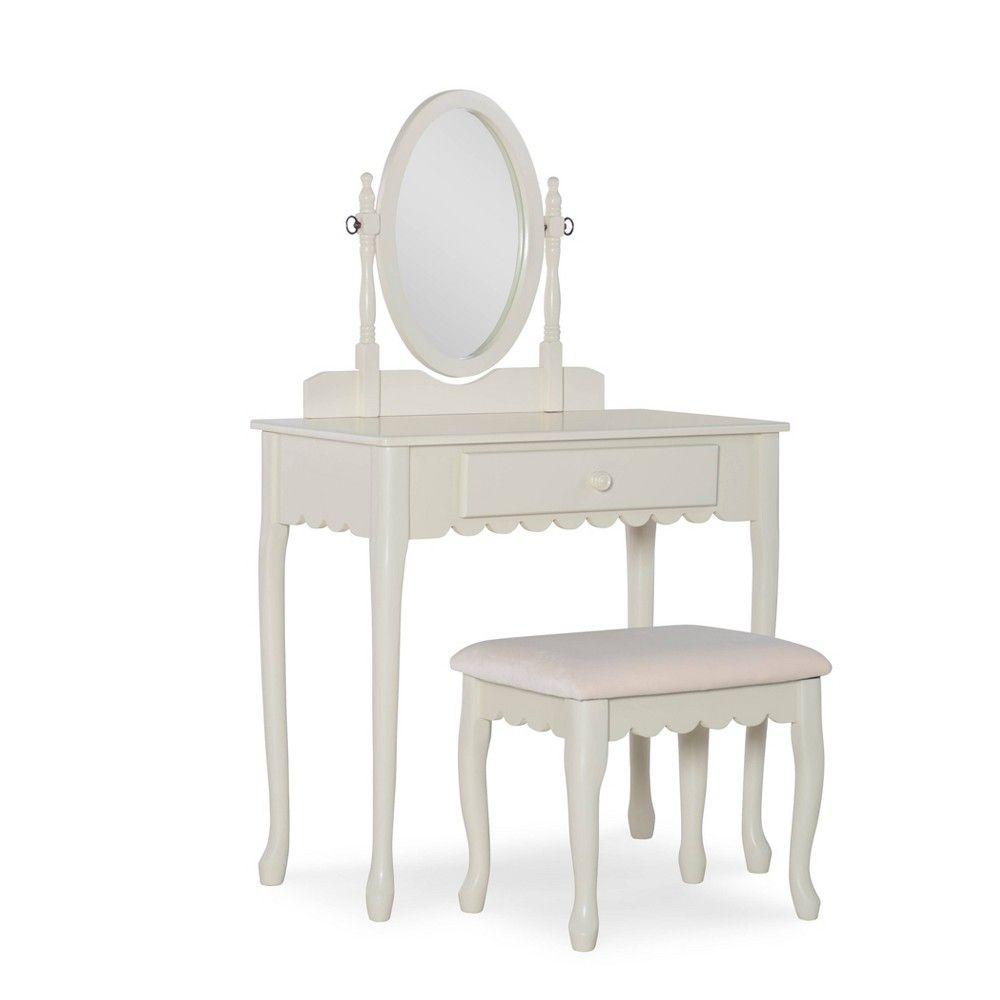 Clarisse Metal Vanity Set Brown Linon Bedroom Vanity