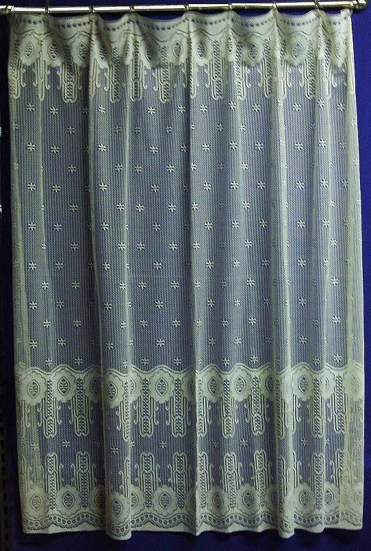 Spectacular Twilight 72 X 72 Ivory Cream Lace Shower Curtain