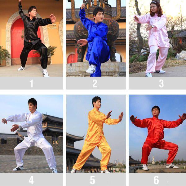 Uniforme de Kung Fu pantalon camiseta para artes marciales - unisex