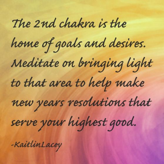 °2nd Chakra - your goals  desires