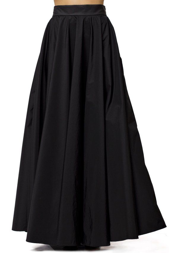 19955e0c9 Maxi Black Skirt - METSk0003 Here is a skirt that will never go out of  style! You can mix and match it with various tops and blouses.