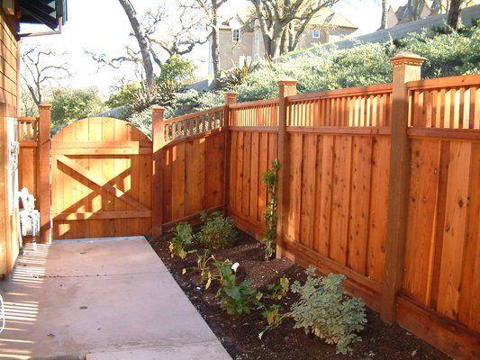 Board on board redwood fence with custom lattice and custom rounded board on board redwood fence with custom lattice and custom rounded gate workwithnaturefo