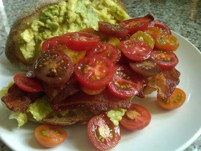 heirloom cherry tomato BLT with avocado @ http://littleladybigappetite.blogspot.com/2012/08/heirloom-cherry-tomato-blt-with-avocado.html