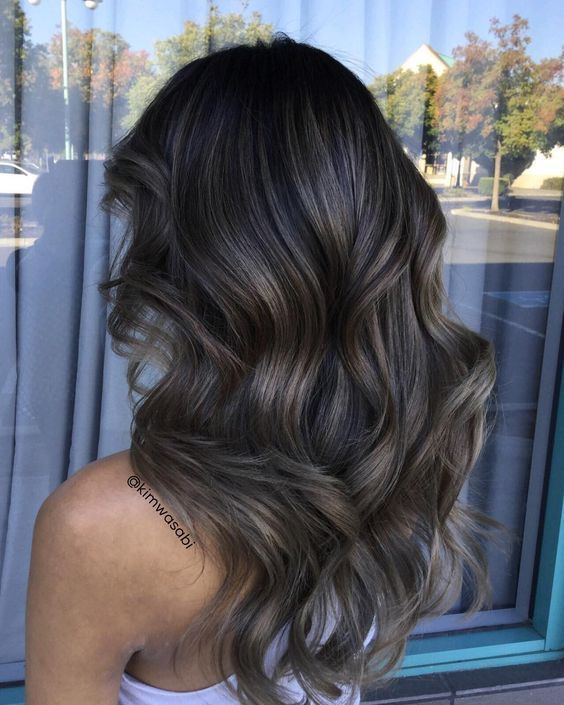 10++ Dark hair ash brown balayage trends