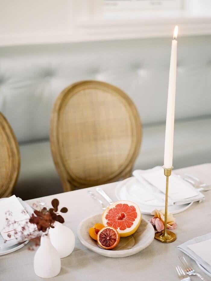 Table decor  #freshfruit #weddingideas