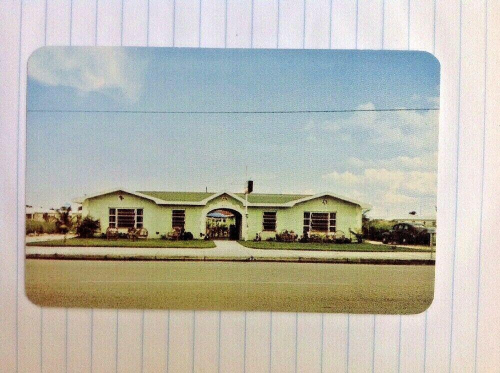 Postcard Miami Florida Danker S Motel Court Old Car In 2021 Hotel Miami Beach Florida Postcard Florida