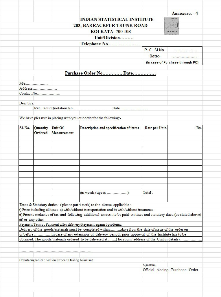 Purchase Order Template | 27+ Free Docs, Xlsx & PDF Forms ...