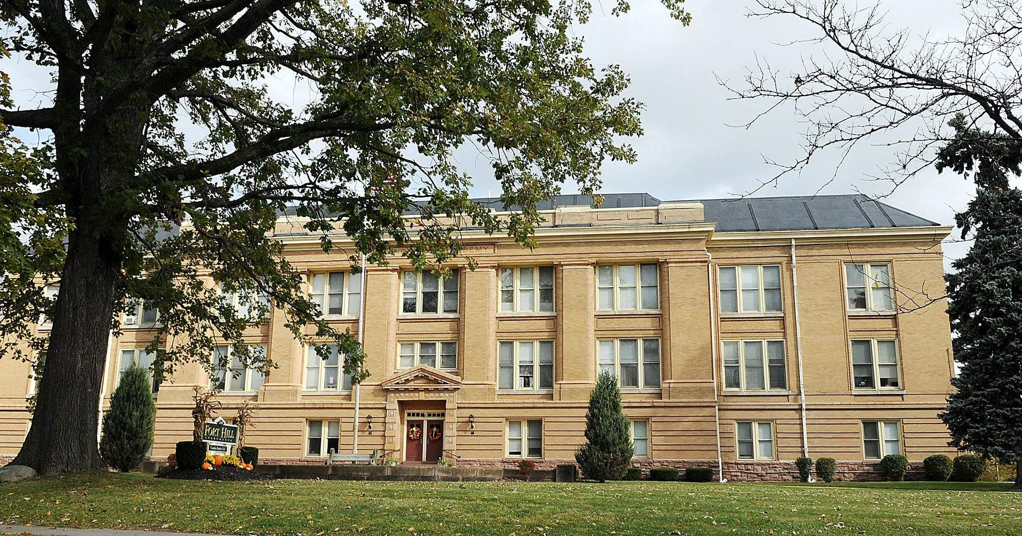 North Main- The old Canandaigua Academy, View from North Main Street.