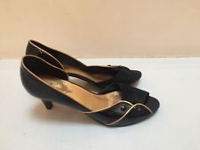Office Vintage Black Patent High Heel Shoes