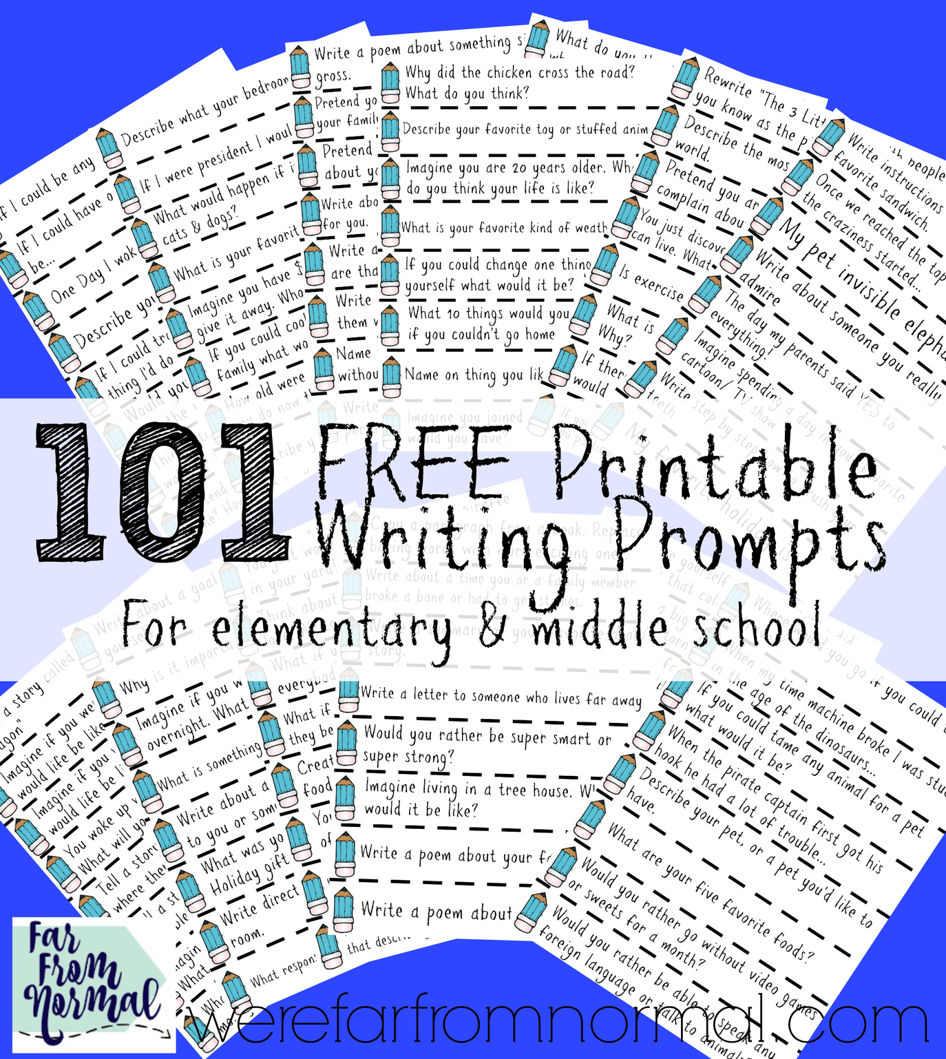 101 Free Printable Writing Prompts