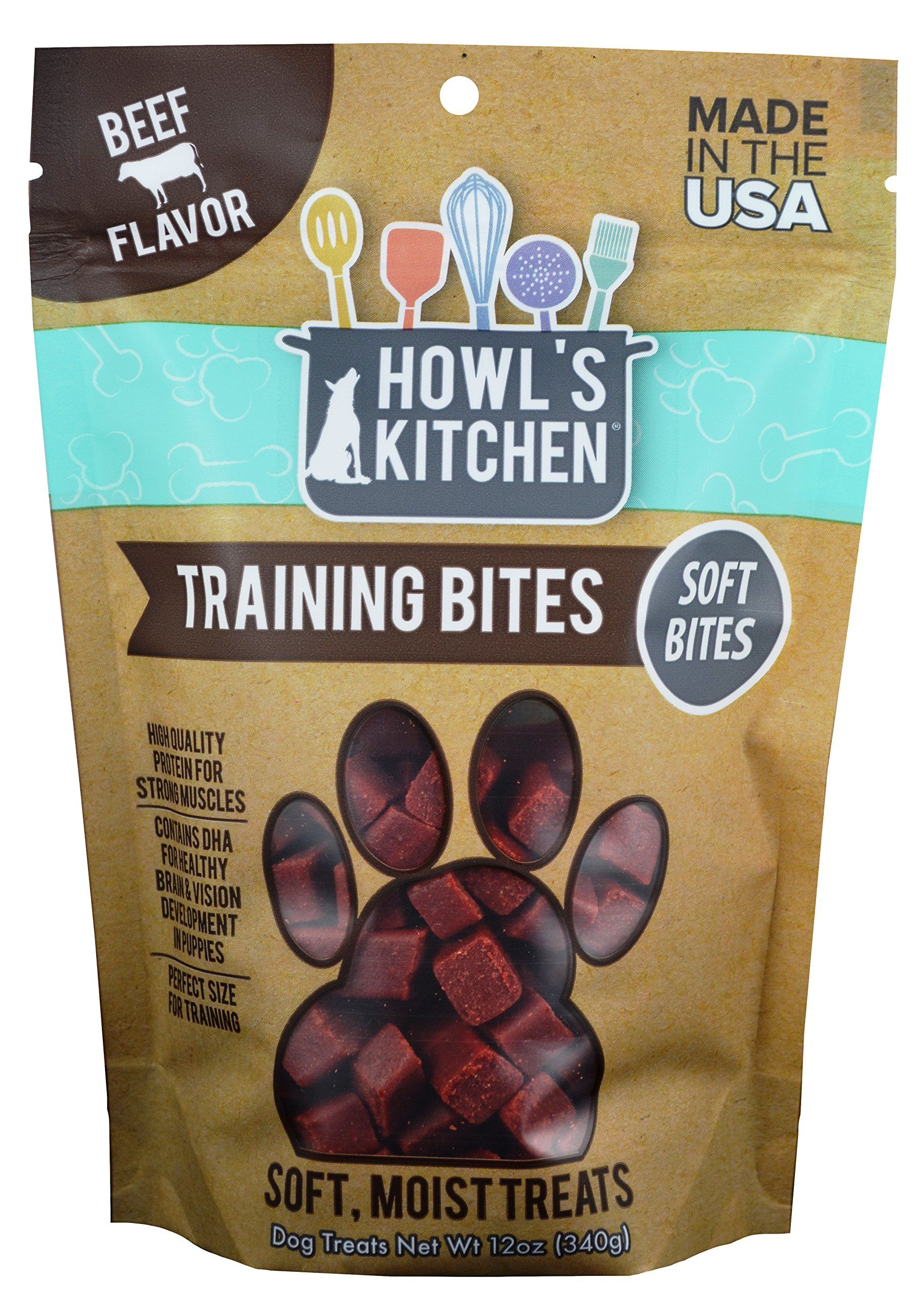 Howlss Kitchen At317 Beef Training Snack Treat 12 Oz One Size
