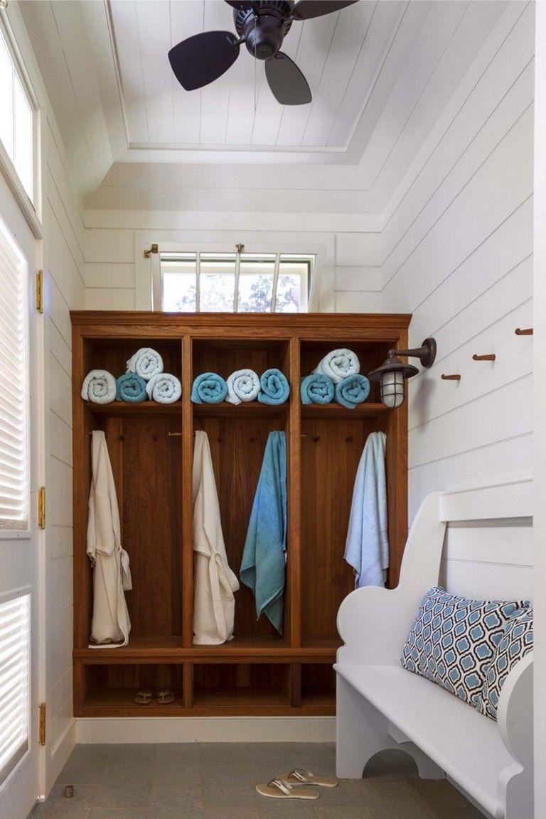 Bathroom Shutter Door For Ventilation Pool House Interiors Pool House Bathroom Pool House Decor
