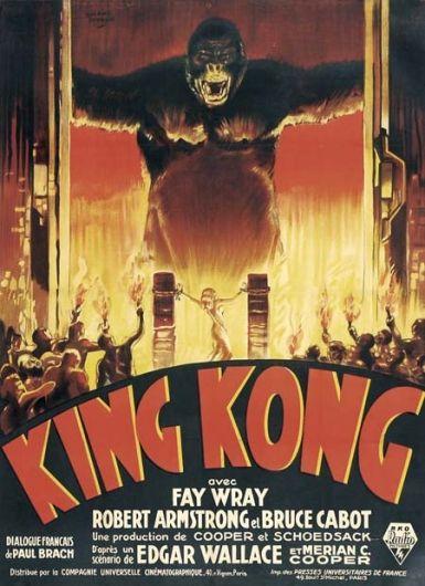 King Kong Fay Wray 1933 cult movie poster print