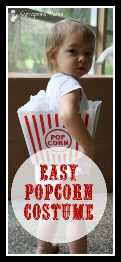 Easy Popcorn Costume Top posts from Syncopated Mama Pinterest - unique toddler halloween costume ideas