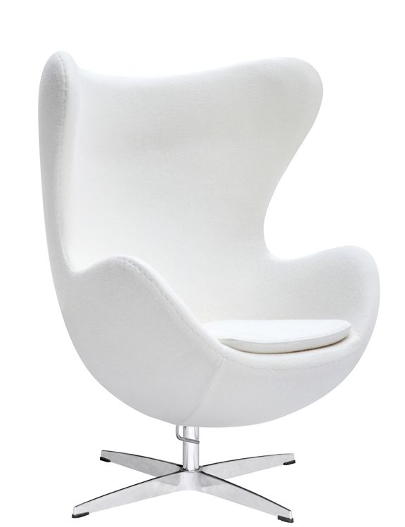 Egg Chair Stof.Fine Mod Imports Arne Jacobsen Egg Chair In White Wool Meubels