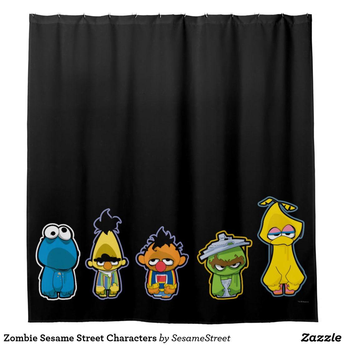 Zombie Sesame Street Characters Shower Curtain Zazzle Com Cute