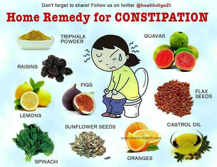 Home remedy for constipation.
