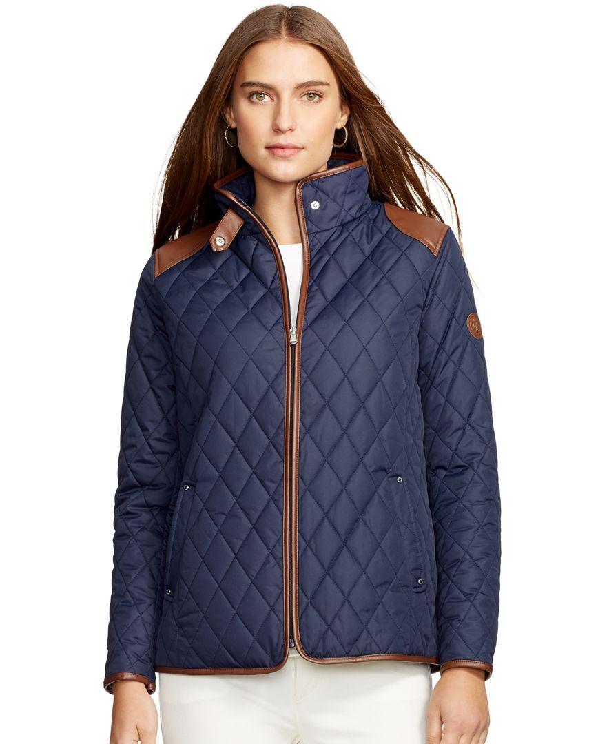 Lauren Ralph Lauren Quilted Jacket Coats Women Macy S Jackets Quilted Jacket Coats For Women