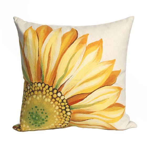 Sunflower Decorative Pillow Outdoor Pillows Outdoor Cushions And Impressive Sunflower Decorative Pillows