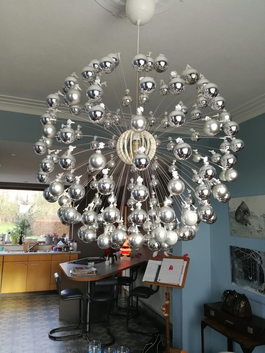 x'mas ball: a festive take on the ikea maskros lamp | weihnachten