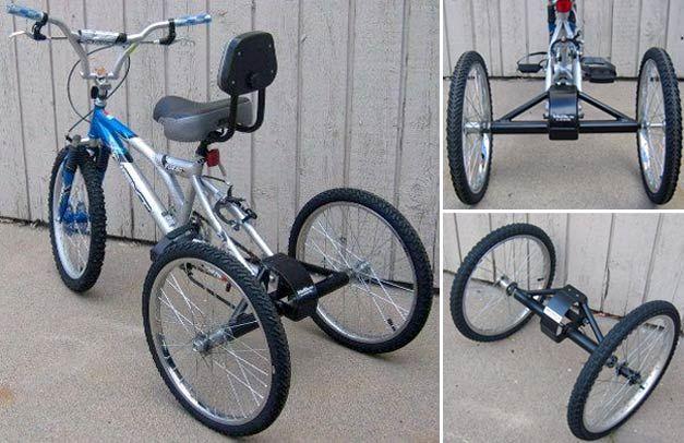 transformer son v lo en tricycle avec trikezilla v lo. Black Bedroom Furniture Sets. Home Design Ideas