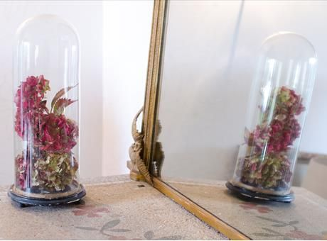 Victorian vintage glass dome, highly decorative and versatile for displaying items.