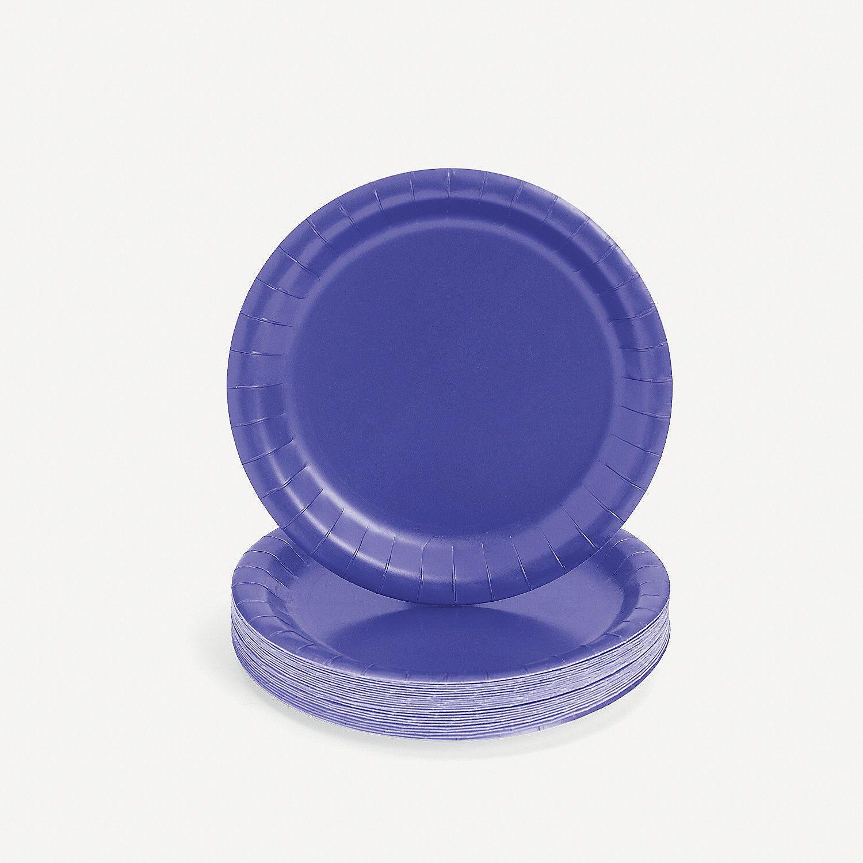 Purple Paper Dessert Plates & Purple Paper Dessert Plates | 18th birthday party