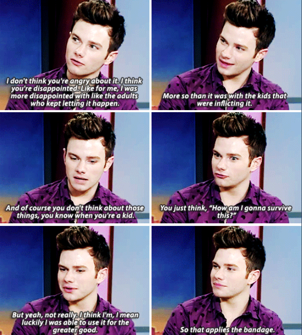 Chris answering question if he´s still angry about his school bullying He´s so inspiring!