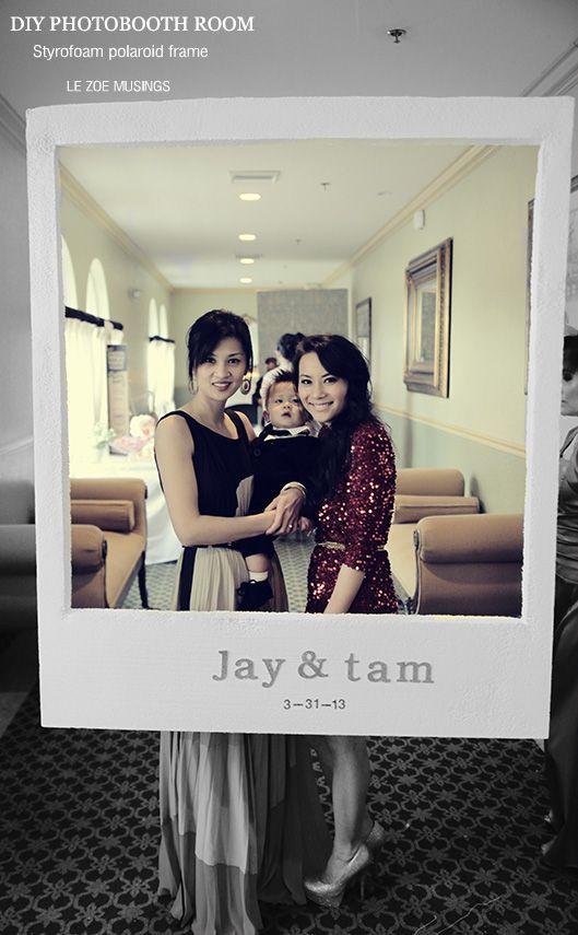 DIY Photobooth Room | Pinterest | Polaroid frame, Diy photobooth and ...