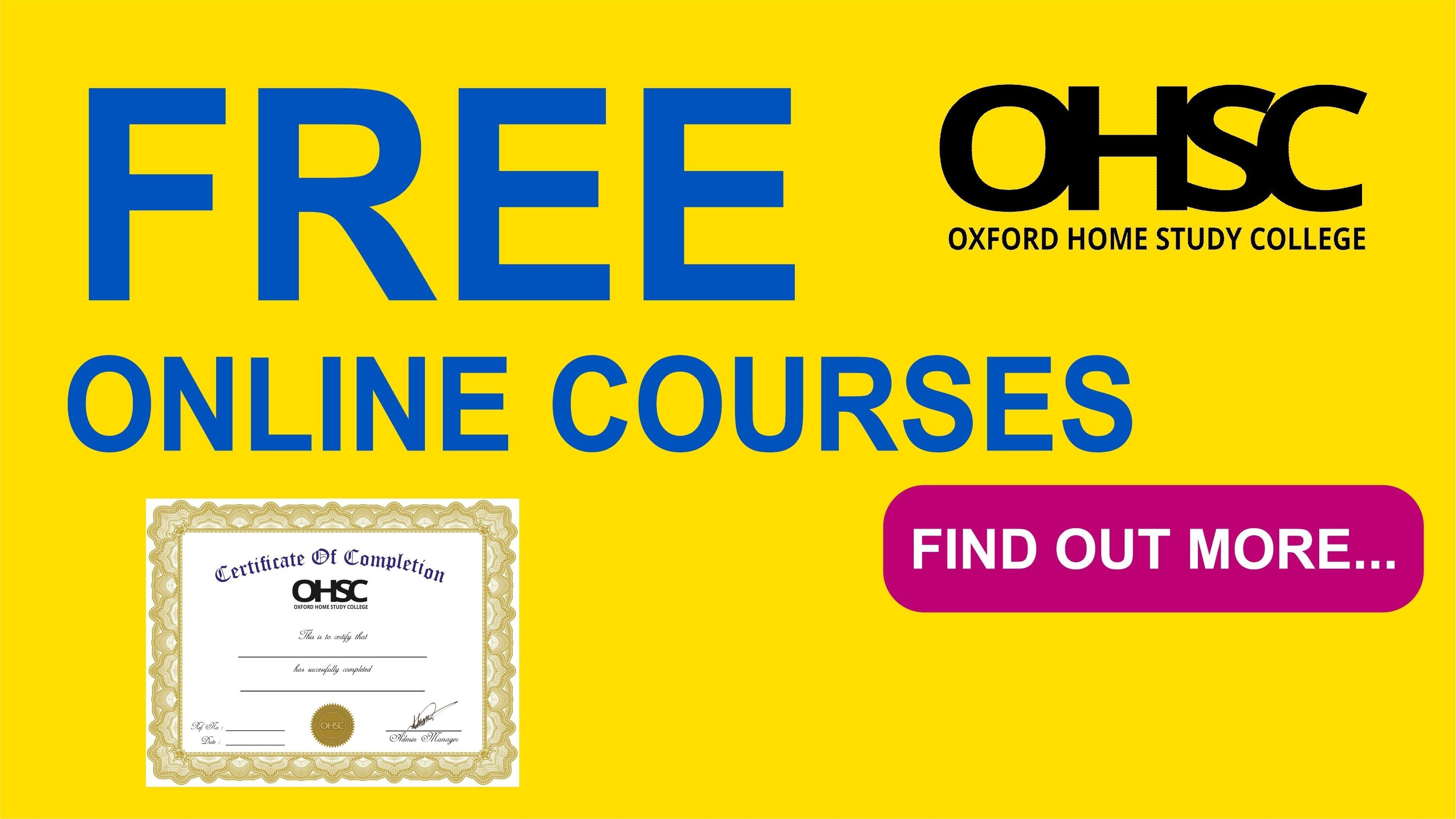 free home study courses with certificates