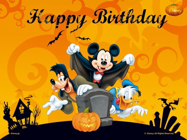 Mickey Halloween Birthday | Happy Birthday | Pinterest | Mickey ...