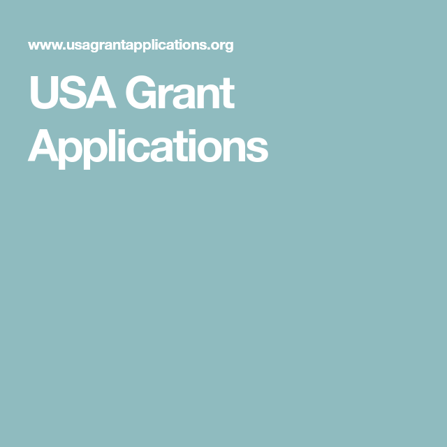 USA Grant Applications Grant application, Business
