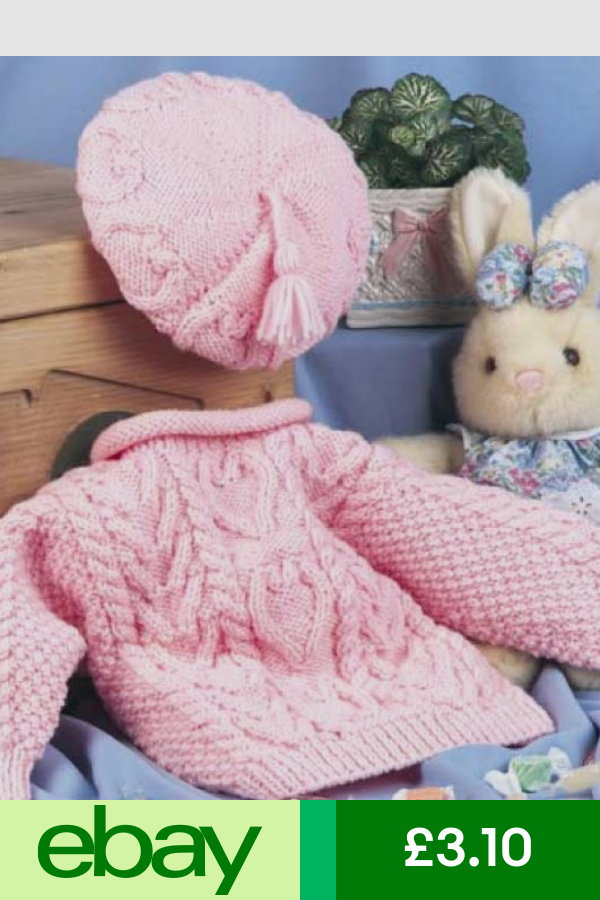 Knitting Pattern Toddlers Aran Cable Sweetheart Sweater Beret Set 97 Baby Girl Knitting Patterns Baby Knitting Patterns Free Baby Sweater Knitting Pattern