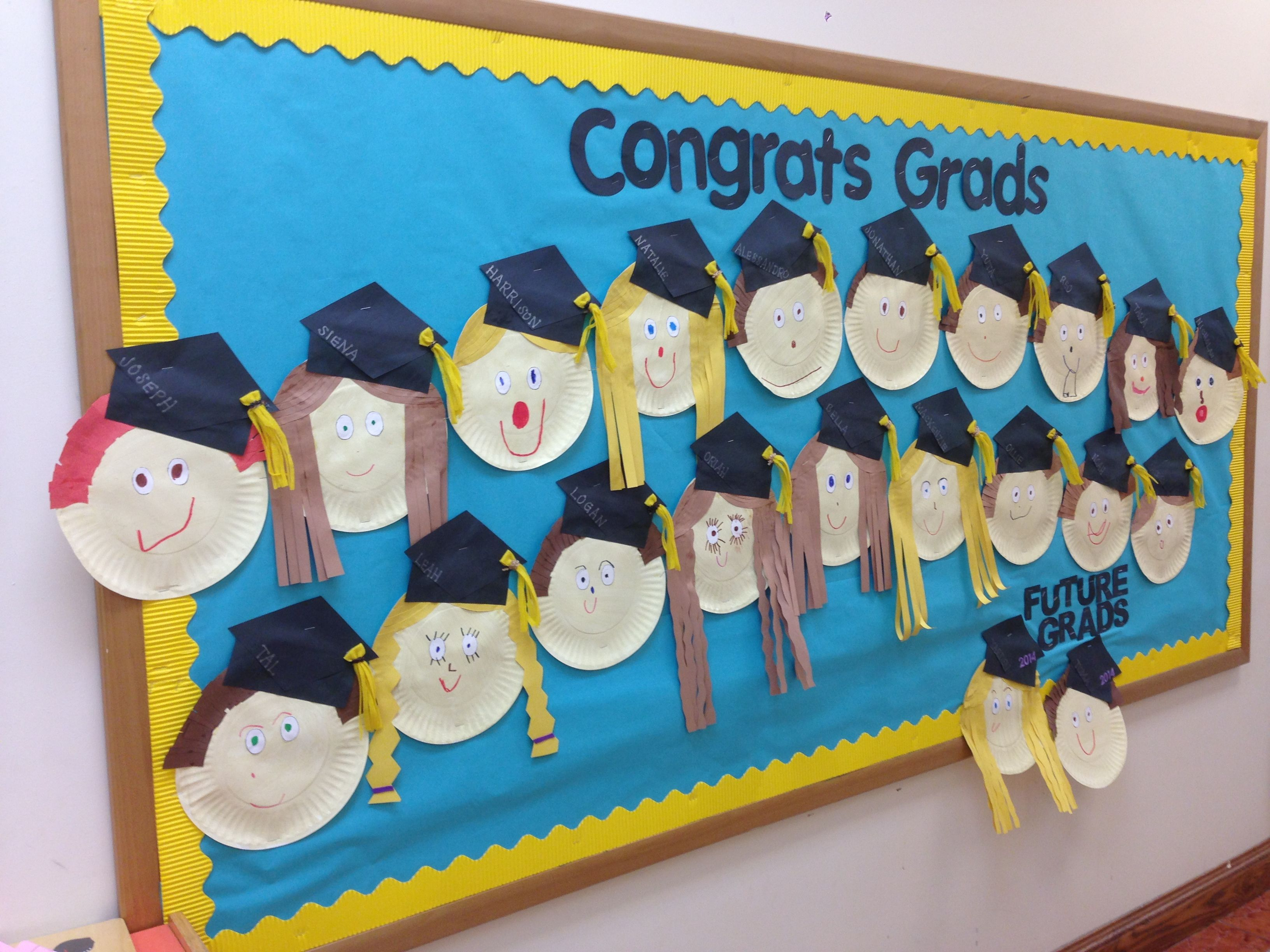 Graduation bulletin board my bulletin boards classroom preschool graduation kindergarten - Kindergarten graduation decorations ...