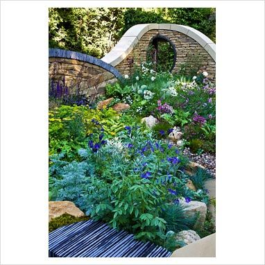 RHS Chelsea flower show- dry stone and slate walls