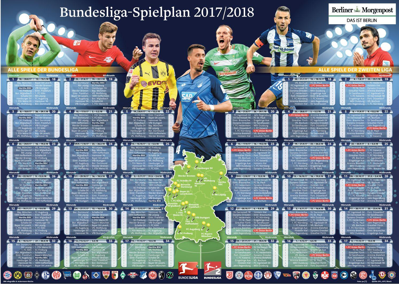 Bundesliga 2 Spielplan 16 17