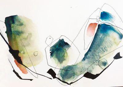 Aquarelles Abstraites Josee Prud Homme Artiste Abstract