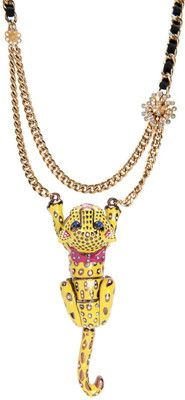 tiger necklace from betsey johnson{sale @ macy; $54.98}