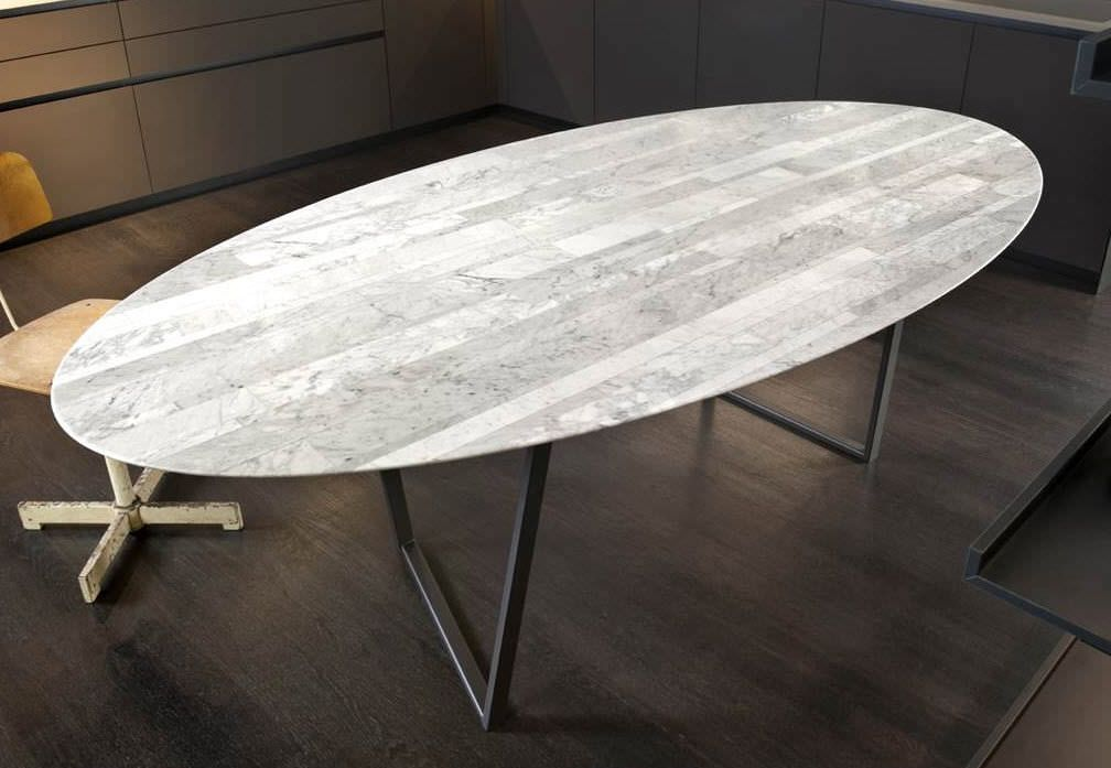 Mesa de comedor / ovalada / de interior / moderna - Alfredo ...