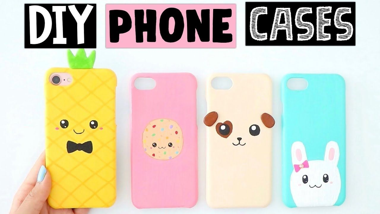 487748f4d6 4 AMAZING DIY PHONE CASES IDEAS! | Phone | Diy phone case, Phone ...