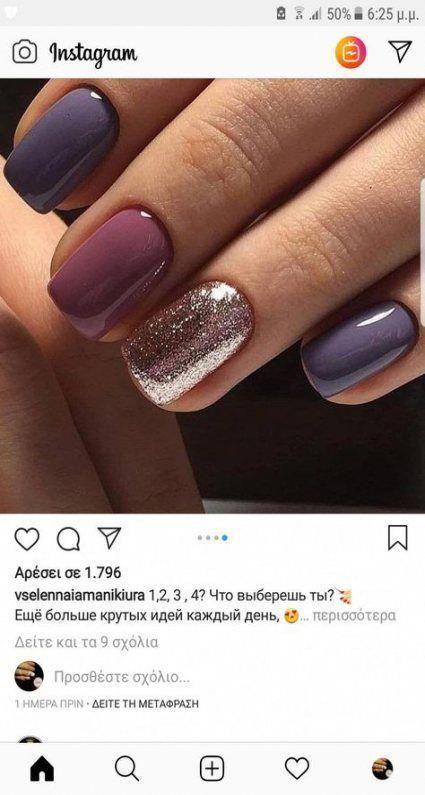 64+ Super Ideas Nails Design Winter Acrylics Hair Colors #nails #hair #winterhai... - Greta