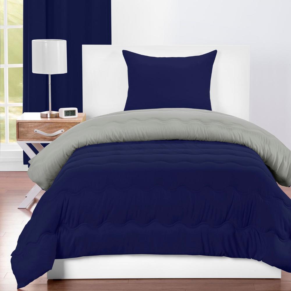 Crayola Navy And Timberwolf Reversible Comforter Target