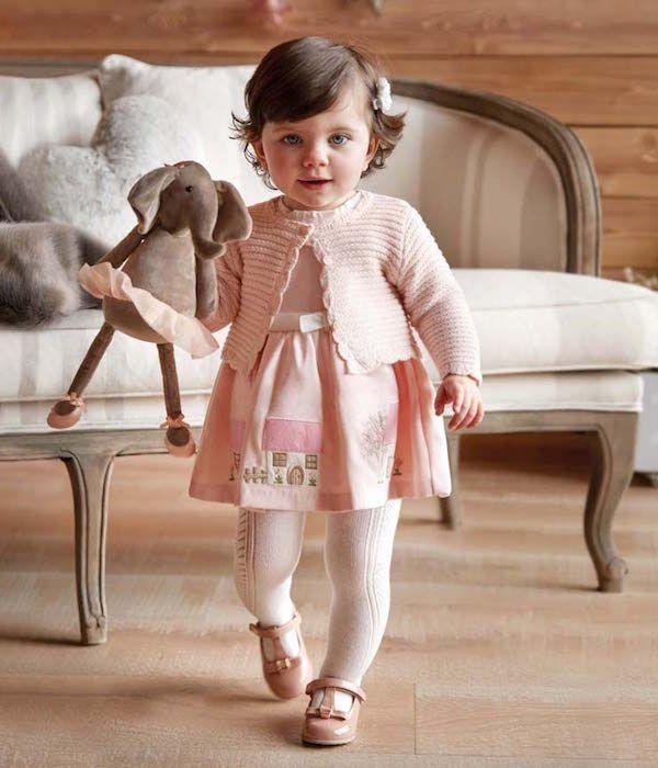 a3ffd4698 Vestido estampado casas rosa Mayoral Otoño Invierno 2019 Catálogo ropa bebé   modainfantil  ropaniñas  tendenciasdemoda  catalogosropa