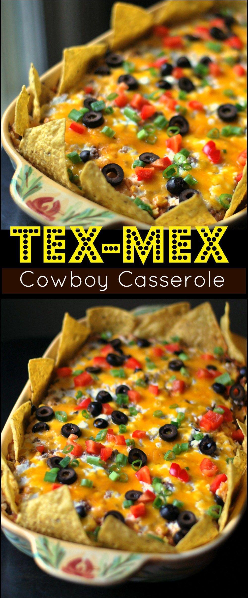 Tex Mex Cowboy Casserole Aunt Bee S Recipes Easy Casserole
