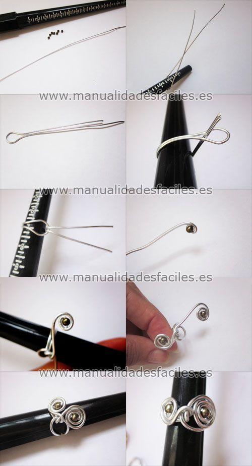 Tutorial para hacer anillos con hilo mágico | Wire Tutorials ...